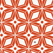 Starburst - Midcentury Modern Geometric Orange #2