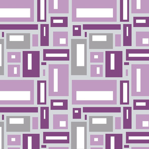 Geometric Rectangles in Mauve and Gray