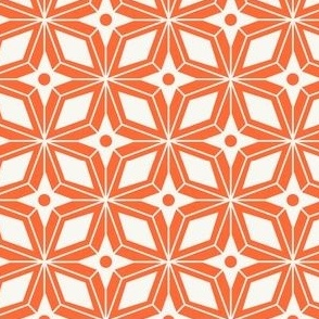 Starburst - Midcentury Modern Geometric Orange #3