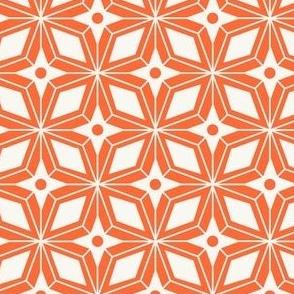 Starburst - Midcentury Modern Geometric Orange #3