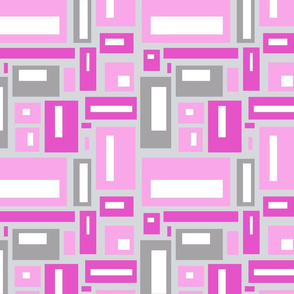 geometric rectangles in bright pinks and gray