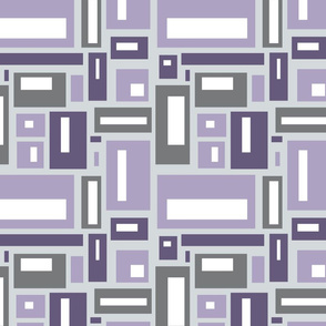 Geometric Rectangles in Purple Gray