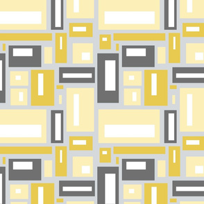 minimalist geometric in yellow and gray