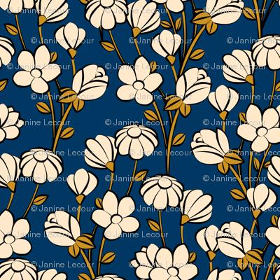 Floral Spring-blue