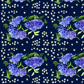 Lilacs Decor Blue