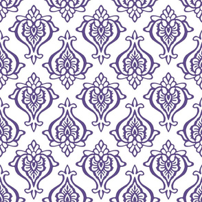 Indian Damask Ultra Violet
