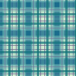 Blue green plaid