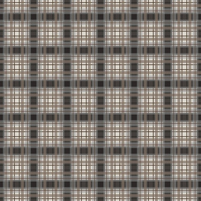 simple preppy plaid brown gray