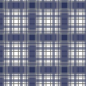 simple preppy plaid navy blue gray