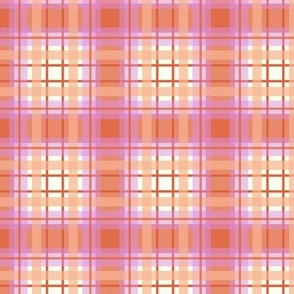 Peach plaid