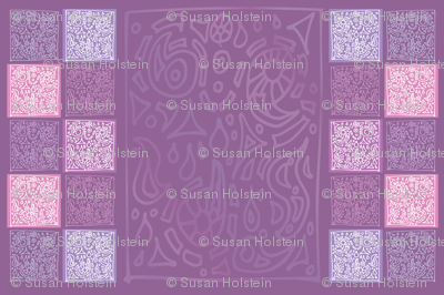 India Dream Purple TEA TOWEL