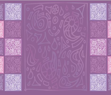 India Dream Purple TEA TOWEL fabric by moxilla on Spoonflower - custom fabric