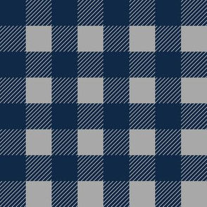 1 inch buffalo checks in navy and gray
