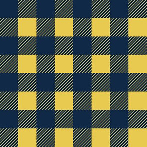 Buffalo Check Plaid 1 inch in navy and yellow