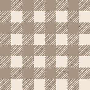 Tan and Cream 1 inch Buffalo Checks