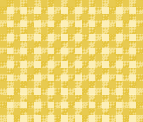 buffalo checks 1 inch in mustard yellow and pale yellow fabric by mel_fischer on Spoonflower - custom fabric