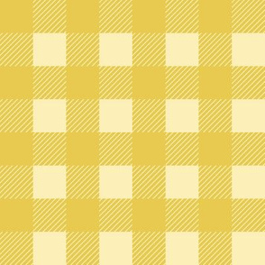 buffalo checks 1 inch in mustard yellow and pale yellow