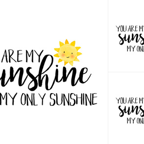 You are my sunshine - Blanket/Lovey Combo - WITH GUIDES