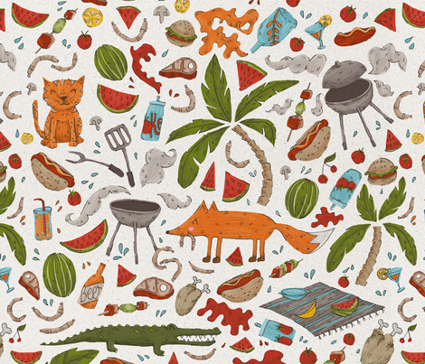 Backyard Fun (3) fabric by mizzlisa on Spoonflower - custom fabric