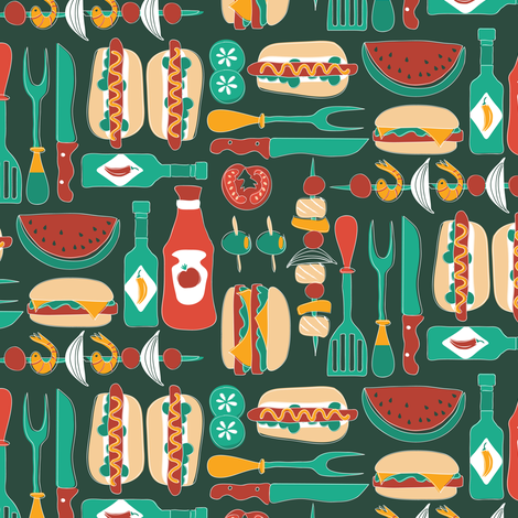 Summer cookout fabric by ebygomm on Spoonflower - custom fabric