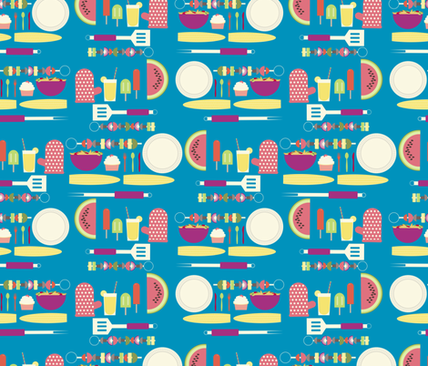 Summer Cookout fabric by meredith_watson on Spoonflower - custom fabric