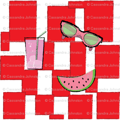 Summer Cookout Picnic Pattern