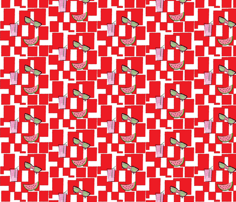 Summer Cookout Picnic Pattern fabric by andijohns on Spoonflower - custom fabric