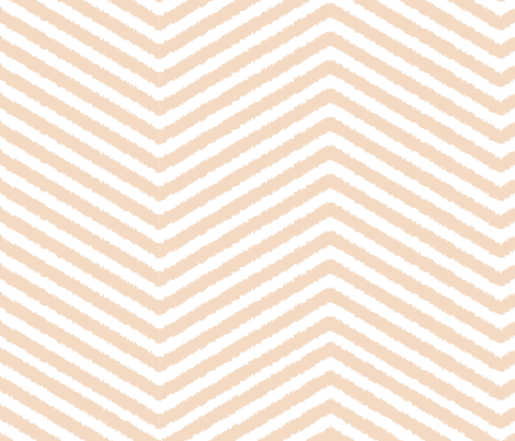 Peach Chevron fabric by mintedtulip on Spoonflower - custom fabric