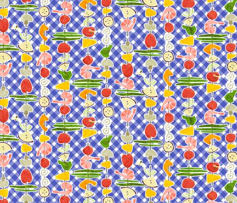 ShrimpSkewers fabric by beckarahn on Spoonflower - custom fabric