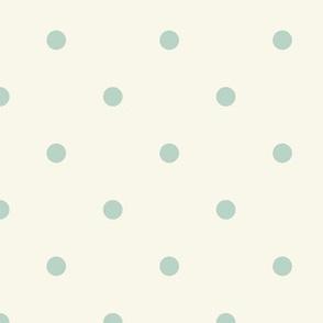 Small Dot- Aqua, Ivory