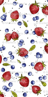 Strawberry, Blueberry, Mint