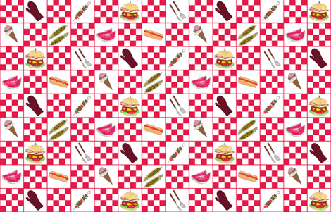 Summer BBQ Fun fabric by oniondv on Spoonflower - custom fabric
