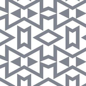 Tribal Triangles Geometric - Cool Grey