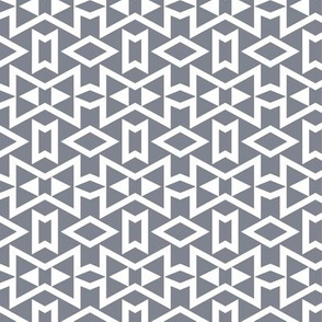 Tribal Triangles Geometric Small - Cool Grey