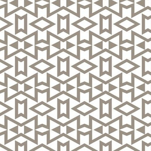 Tribal Triangles Geometric Small - Warm Grey