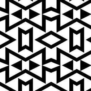 Tribal Triangles Geometric - Black & White