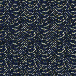 Ink Dot Scales - navy and gold