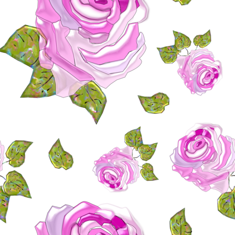 Painterly Roses fabric by betz on Spoonflower - custom fabric