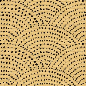 Large Ink dot scales - brown paper