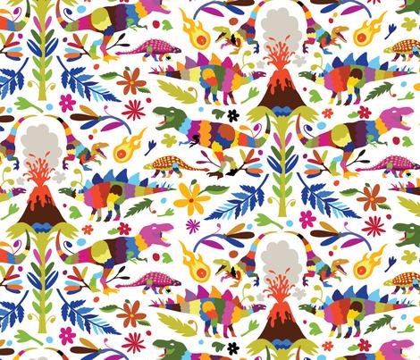 Dinosaur Otomi (Slightly) Larger! fabric by kellybozarth on Spoonflower - custom fabric