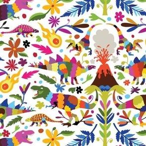 Dinosaur Otomi Multicolor