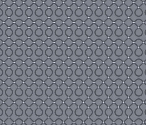 Cool Grey Loopty Loop fabric by mariafaithgarcia on Spoonflower - custom fabric