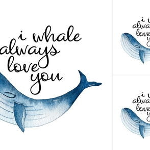 Nautical//I whale always love you - Blanket/Lovey Combo WITH GUIDES