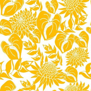 Yellow tropical floral