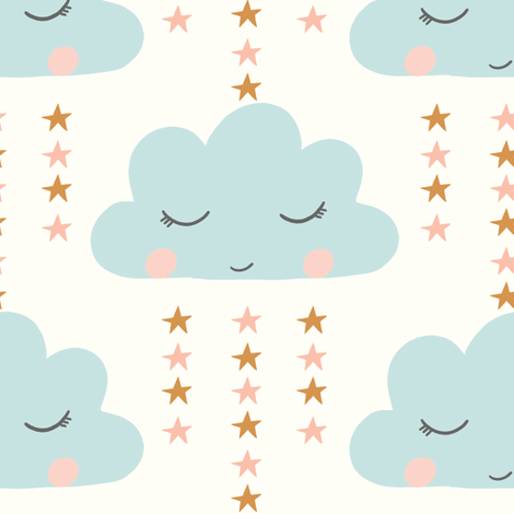 little rain cloud fabric by littlefoxhill on Spoonflower - custom fabric