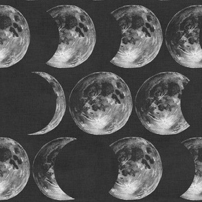 Moon Phases (Charcoal)