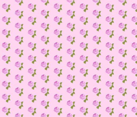 Painterly Rose on Pink, Small Scale fabric by betz on Spoonflower - custom fabric