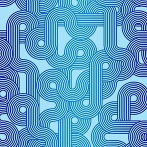 curvy lines blue