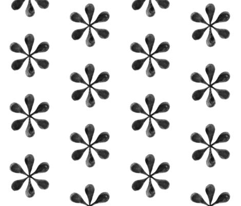 Black Watercolor Asterisks fabric by hazelnut_green on Spoonflower - custom fabric