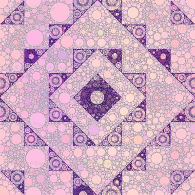 kilim -pink-bubbles